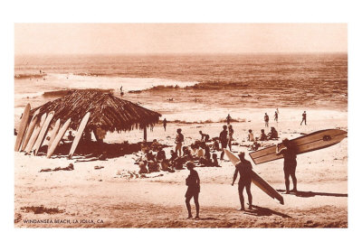 SU-00013-C~Windandsea-Beach-California-Surfers-Posters