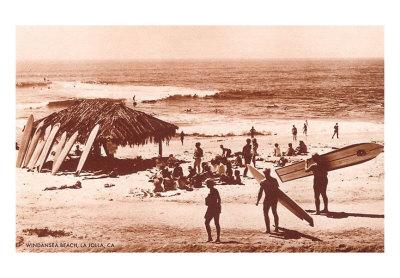 SU-00013-C~Windandsea-Beach-California-Surfers-Posters