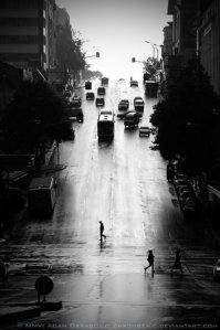 black alleyway