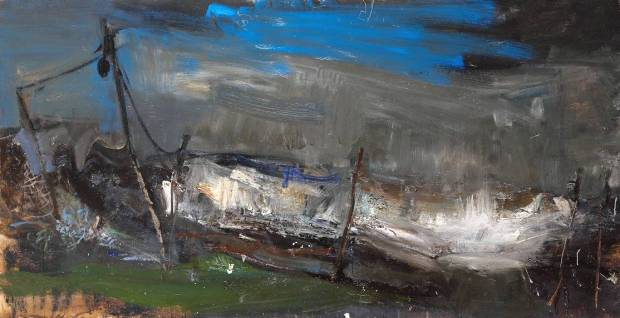 Salmon Net Posts circa 1961-62 by Joan Eardley 1921-1963