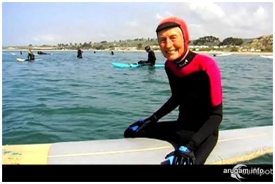 84 years old. surfing sicnce 1957